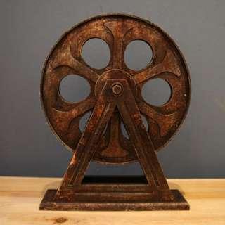 CLEARANCE - Industrial Vintage Film Reel