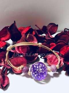 Purple Floral Bracelet