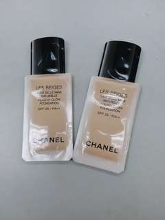 Chanel Les Beiges Healthy Glow Foundation SPF 25/PA++ 1.3ml X 2