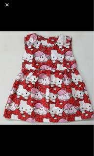 Baby girl kid toddler infant hello kitty dress skirt