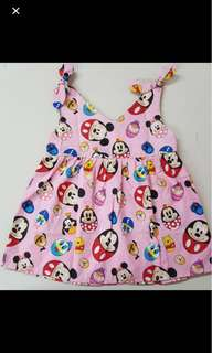 Tsum tsum disney mickey minnie dress skirt infant toddler baby girl kid