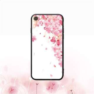 Pink Floral Soft Case for iPhone 5, 5s, 6, 6+, 6s, 6s+, 7, 7+, 8, 8+