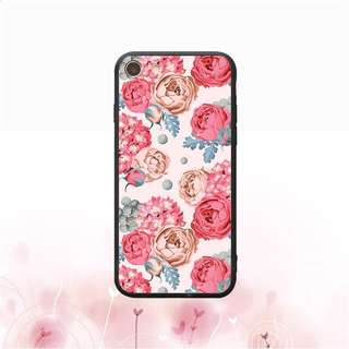 Pink Floral Soft Case for iPhone 5, 5s, 6, 6+, 6s, 6s+, 7, 7+, 8, 8+, X