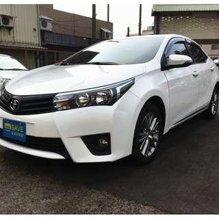 2013年 白 豐田ALTIS 1.8 里程2.7萬  全車系0頭款!! 讓你不用現金把車開回家