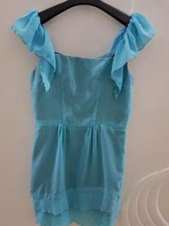 Blue Dress lace