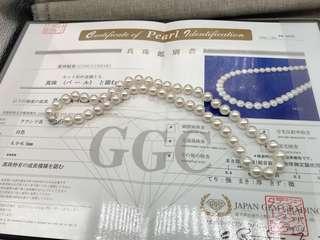 有証書花女8mm akoya necklace