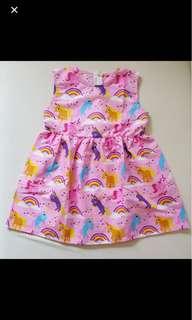 Baby girl kids my little pony unicorn rainbow dress skirt infant toddler