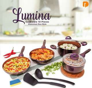 Lumina Cookware 10 Pieces Aluminium Non Stick
