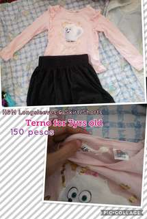 H&M Longsleeves & Short/Skirt