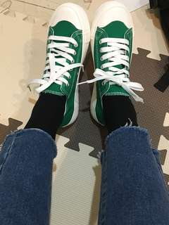 🚚 Domba韓系帆布鞋 綠