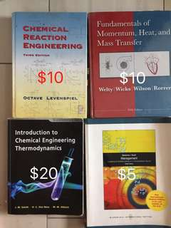 CN2116 Chemical Reaction Engineering, CN2122 Fundamentals of Moment Heat and Mass Transfer, Introduction to Chemical Engineering Thermodynamics
