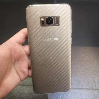 Samsung series transparent carbon fibre back protector
