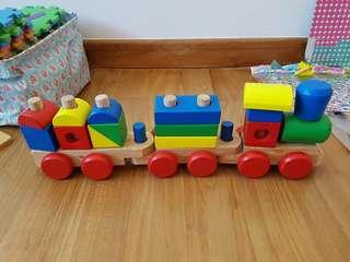 Melissa n doug wooden train puzzle