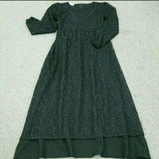 Lace Long Dress/Jubah
