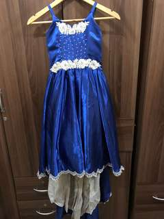 Royal Blue Gown with Trail for Kids