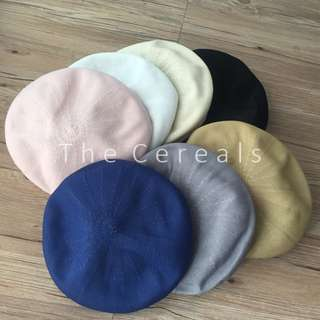 TC2334 Korea Designer Barret Hat (Grey,White,Pink,Khakis,Navy,Beige,Black)