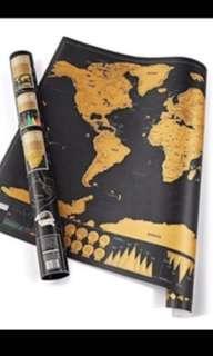 Scratch worldwide map