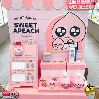 The Face Shop x Apeach (kakao friends ryan 韓國 代購)