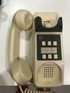 Vintage White Wall Phone