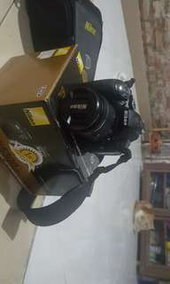 Nikon D5300 + Lensa Tele 55 - 200 mm + Tas Kamera Merk Knee
