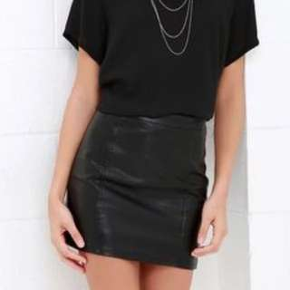 Primark Atmosphere Faux Leather Skirt
