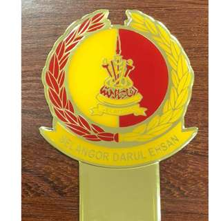 Selangor State Emblem Badge Gold Version for Car Number Plate