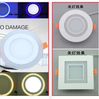 Led downlight with night light