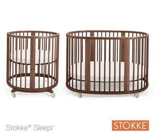 Stokke Sleepi Mini and Extension Cot Walnut