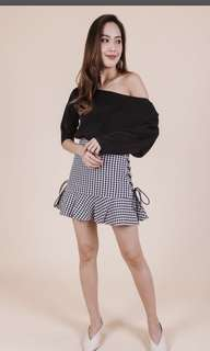 Lili gingham two way skirt