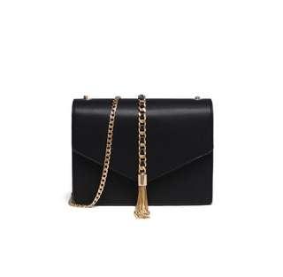 Instock: Black Tassel Sling Bag