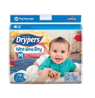 Drypers wee wee dry M74