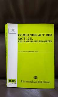 Companies Act 1965 (ACT 125), Regulations, Rules & Order