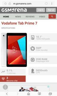 Vodafone Tab Prime 7 lte 10吋平板