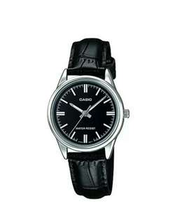 Original casio watch for women with genuine leather band and 1 year warranty   LTP-V005L-1A