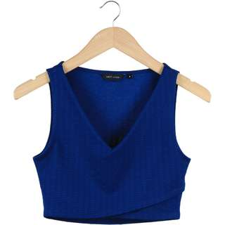 New Look Blue Cropped Sleeveless