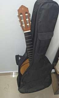 Guitar with Cushion Beg Yamaha C40M
