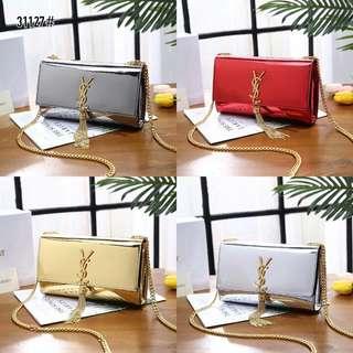 b2d3a5e23a6e14 YSL Medium Kate Tassel Patent Leather Chain Bag 31127#22 Bahan kulit  Dalaman kain suede