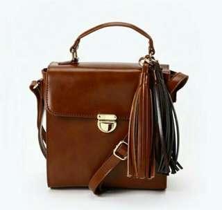 3in1 Brown Vintage Sling Bag