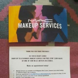 MAC voucher make up