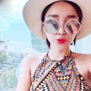 🚚 韓日Korea 圓形框金屬眼鏡