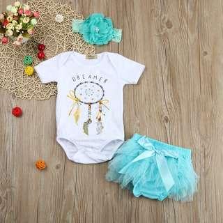 Baby Girls Dreamcatcher Romper Set