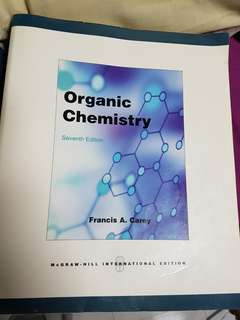 Seventh edition! Organic Chemistry by Francis A. Carey