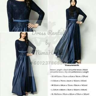 RENTAL • Zalia Lace Slit Flare Dress