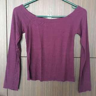Violet Off-shoulder Top