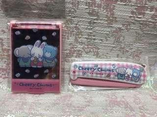 Sanrio 絕版 Cheery Chums 摺鏡 摺梳