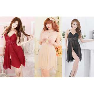 TCWK Sexy Women Nightdress Babydoll Lingerie With 3 Colour E206