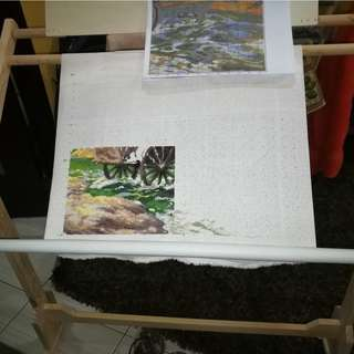 Large Cross stitch stand frame with lots of freebies