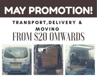 Transport,delivery and moving in van