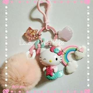 Hello Kitty mermaid princess bag charm fob