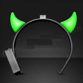 Green Devil Horns / LED Headband